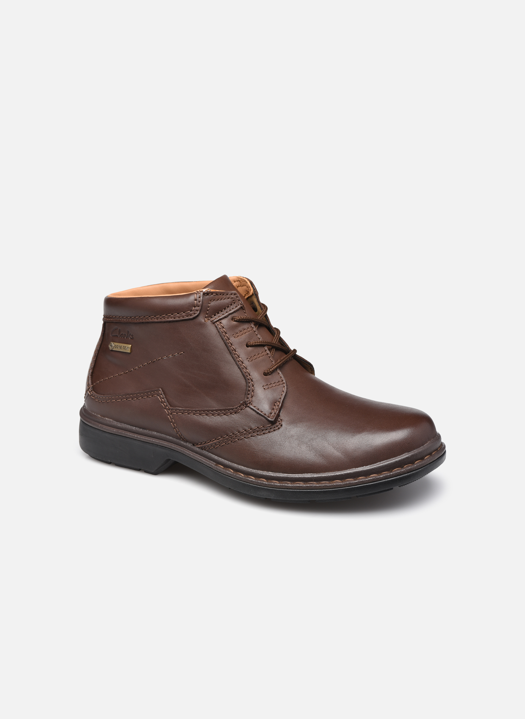 Lace-up shoes Clarks Rockie Hi Gtx Brown detailed view/ Pair view