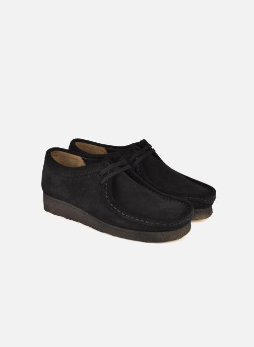 Chaussures à lacets Clarks Originals Wallabee F Noir vue 3/4