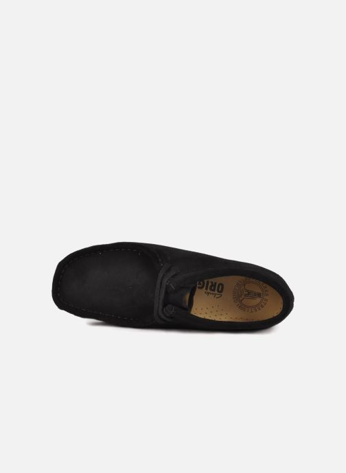 Lace-up shoes Clarks Originals Wallabee F Black view from the left