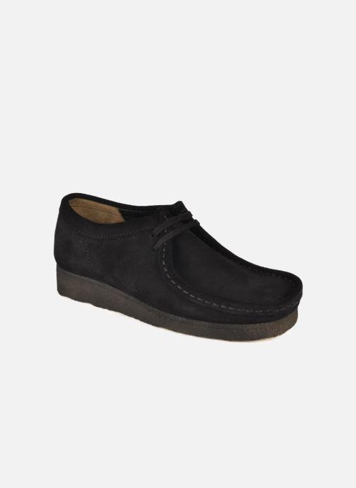 Chaussures à lacets Clarks Originals Wallabee F Noir vue détail/paire