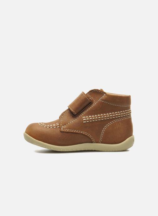 Zapatos con velcro Kickers Bilou Marrón vista de frente