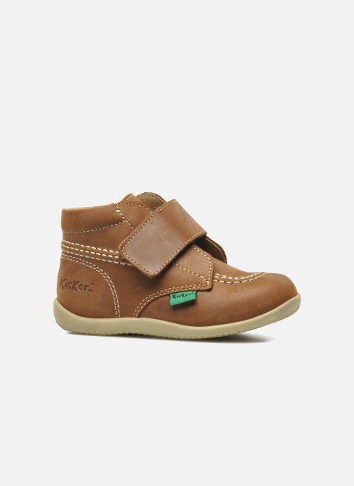 Zapatos con velcro Kickers Bilou Marrón vistra trasera