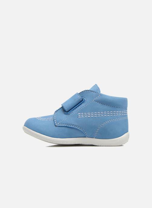 Chaussures à scratch Kickers Bilou Bleu vue face