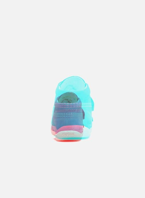 Chaussures à scratch Kickers Bilou Bleu vue droite