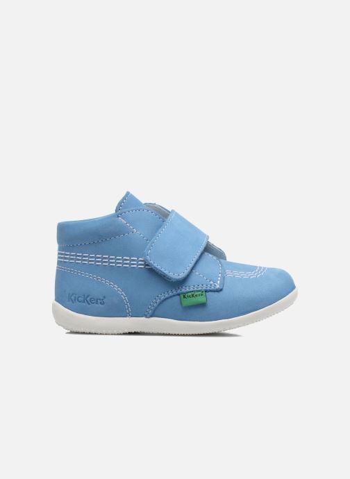 Chaussures à scratch Kickers Bilou Bleu vue derrière