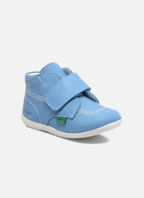 Schoenen met klitteband Kickers Bilou Blauw detail