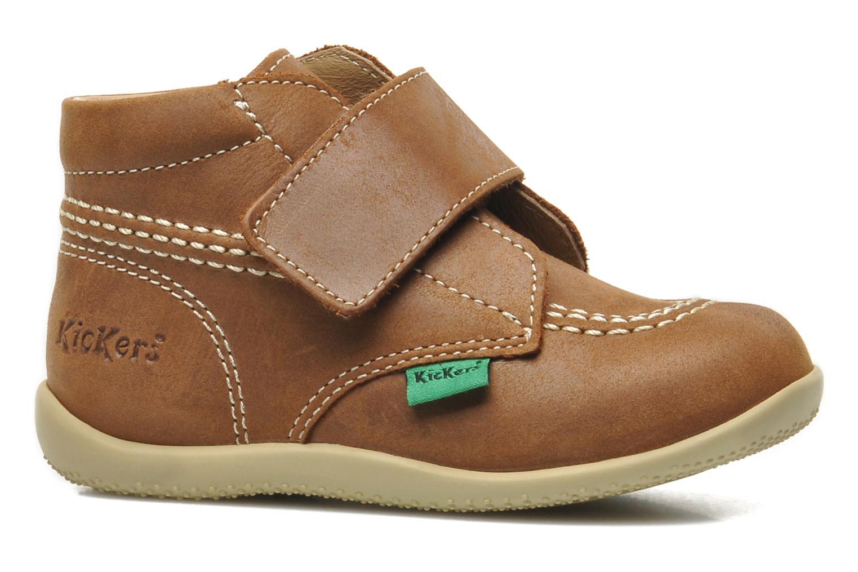 Chaussures à scratch Kickers Bilou Marron vue derrière