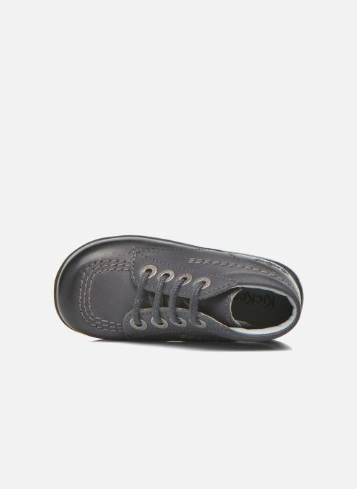 Chaussures à lacets Kickers Billy Noir vue gauche