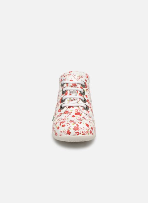 Chaussures à lacets Kickers Billy Blanc vue portées chaussures