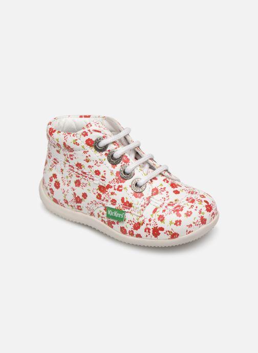 Chaussures à lacets Kickers Billy Blanc vue détail/paire