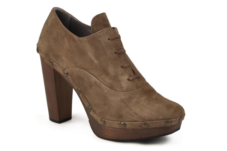 Chaussures à lacets Castaner Katia Marron vue détail/paire