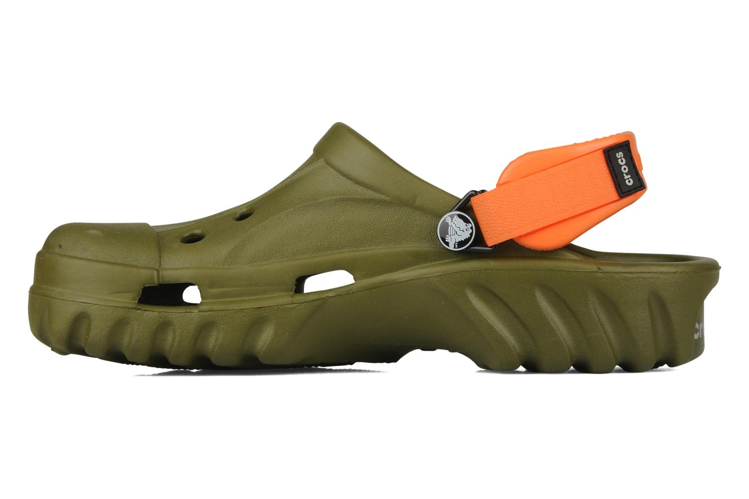 Sandalias Crocs Off Road Verde vista de frente