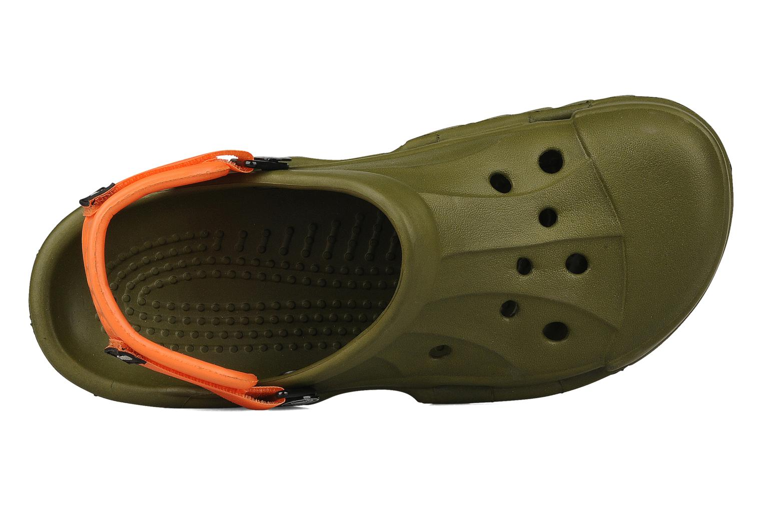 Sandalias Crocs Off Road Verde vista lateral izquierda