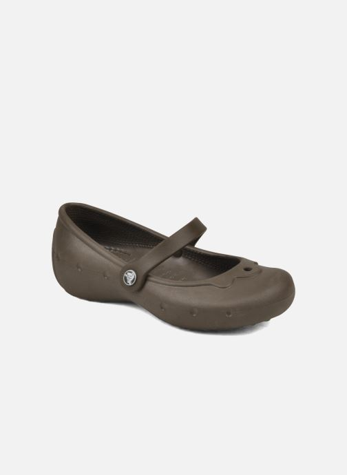 Ballerines Crocs Girl Alice Marron vue détail/paire