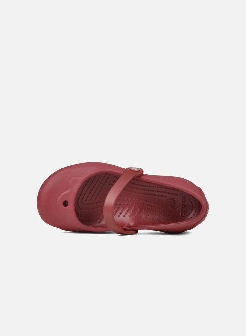Ballet pumps Crocs Girl Alice Red view from the left