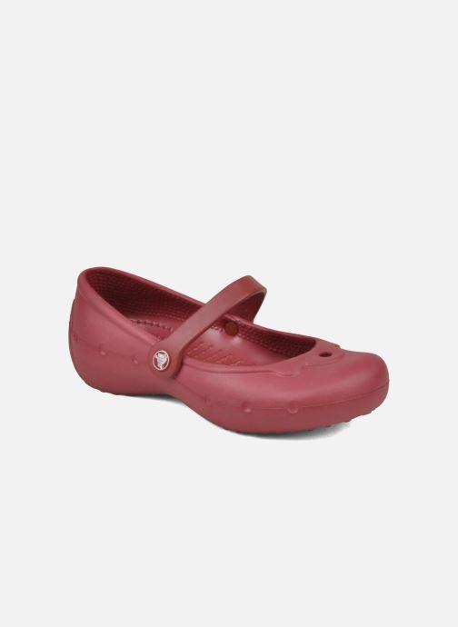 Ballerines Crocs Girl Alice Rouge vue détail/paire