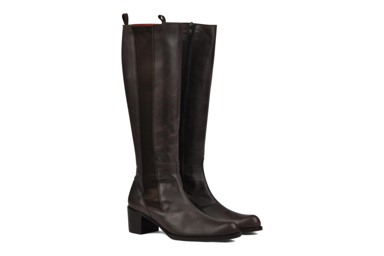 Boots & wellies Stephane Gontard Kaloa Brown 3/4 view