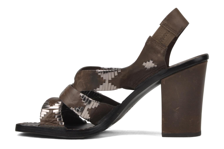 Sandales et nu-pieds Belle Catarina Marron vue face