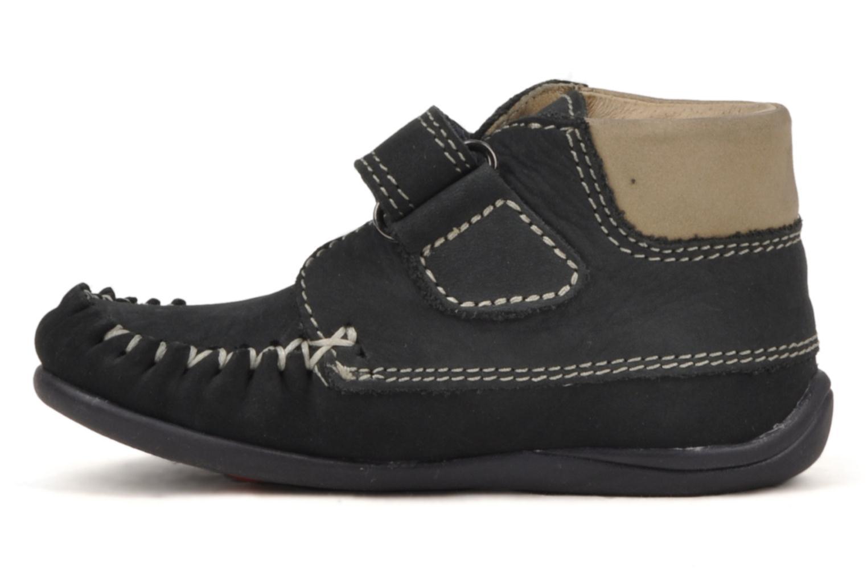 Chaussures à scratch Giesswein Cottbus Bleu vue face