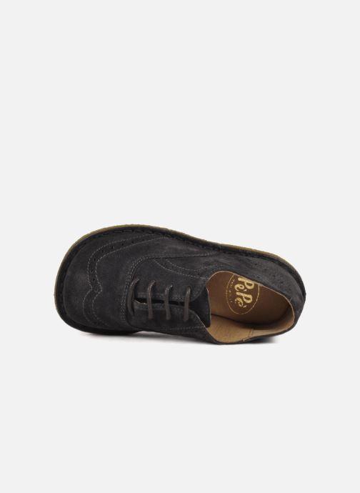 Zapatos con cordones PèPè Legio Gris vista lateral izquierda