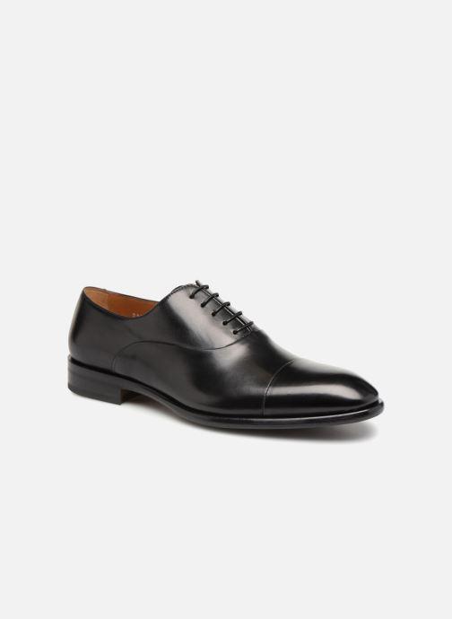 Chaussures à lacets Doucal's Louis Noir vue détail/paire