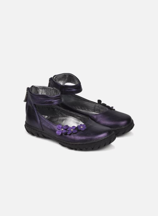 Ballet pumps Pom d Api CUTE ROCK FLOWERS Purple 3/4 view