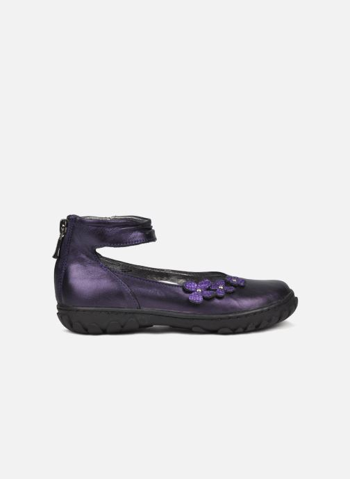 Ballet pumps Pom d Api CUTE ROCK FLOWERS Purple back view