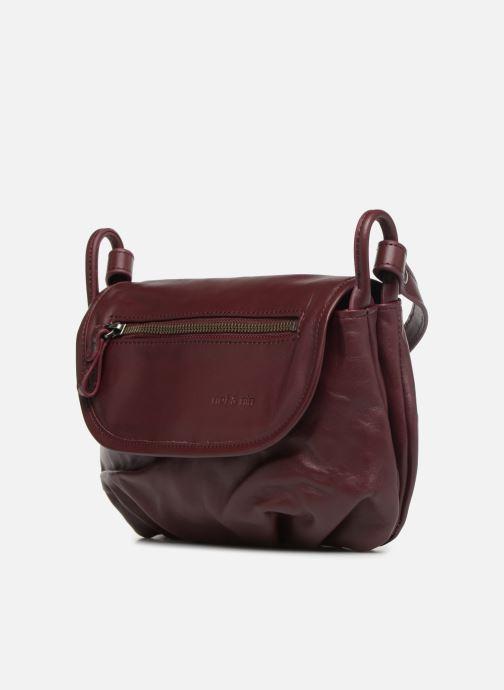Handtaschen Nat & Nin Jenny weinrot schuhe getragen