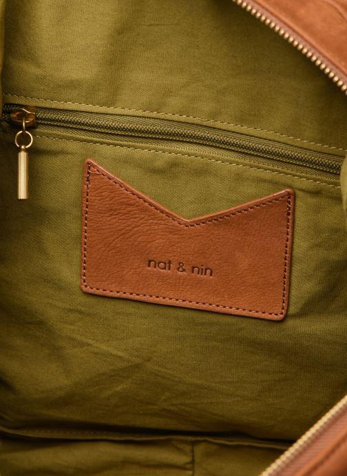 Handtassen Nat & Nin Macy Bruin achterkant
