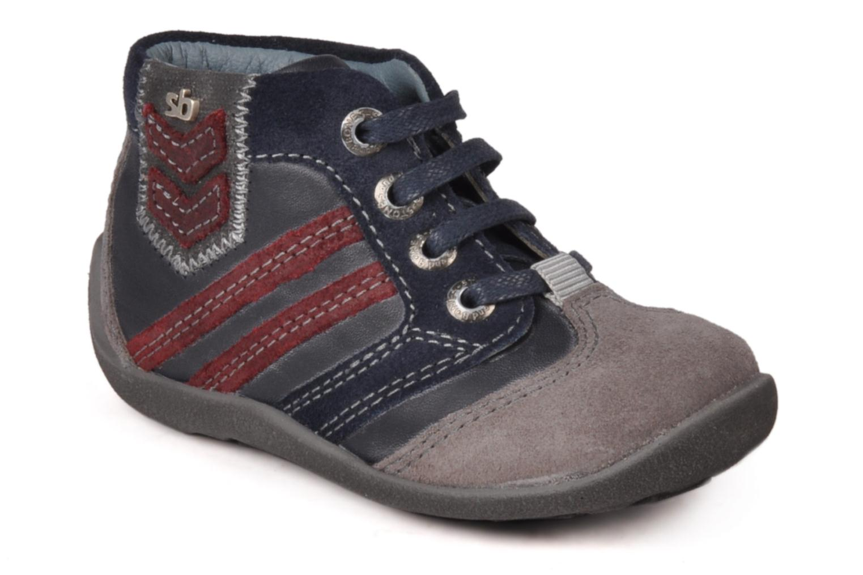 Bottines et boots Stones and Bones Ale Bleu vue détail/paire