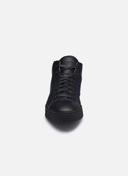Baskets Santoni Gloria Bleu vue portées chaussures