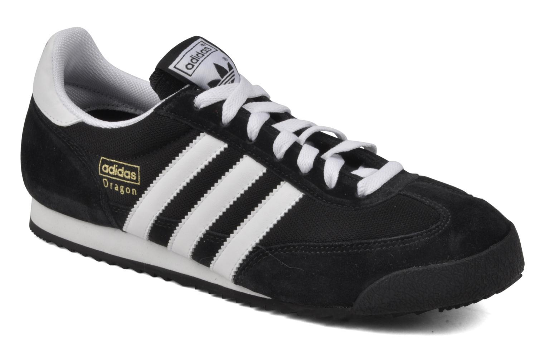 Baskets Adidas Originals Dragon Noir vue détail/paire