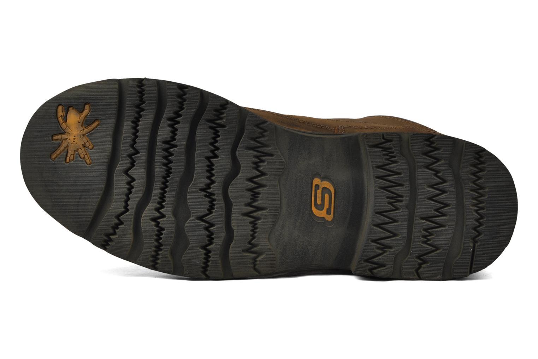 Chaussures à lacets Skechers Shockwaves Regions 61737 Marron vue haut