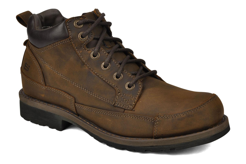 Chaussures à lacets Skechers Shockwaves Regions 61737 Marron vue détail/paire