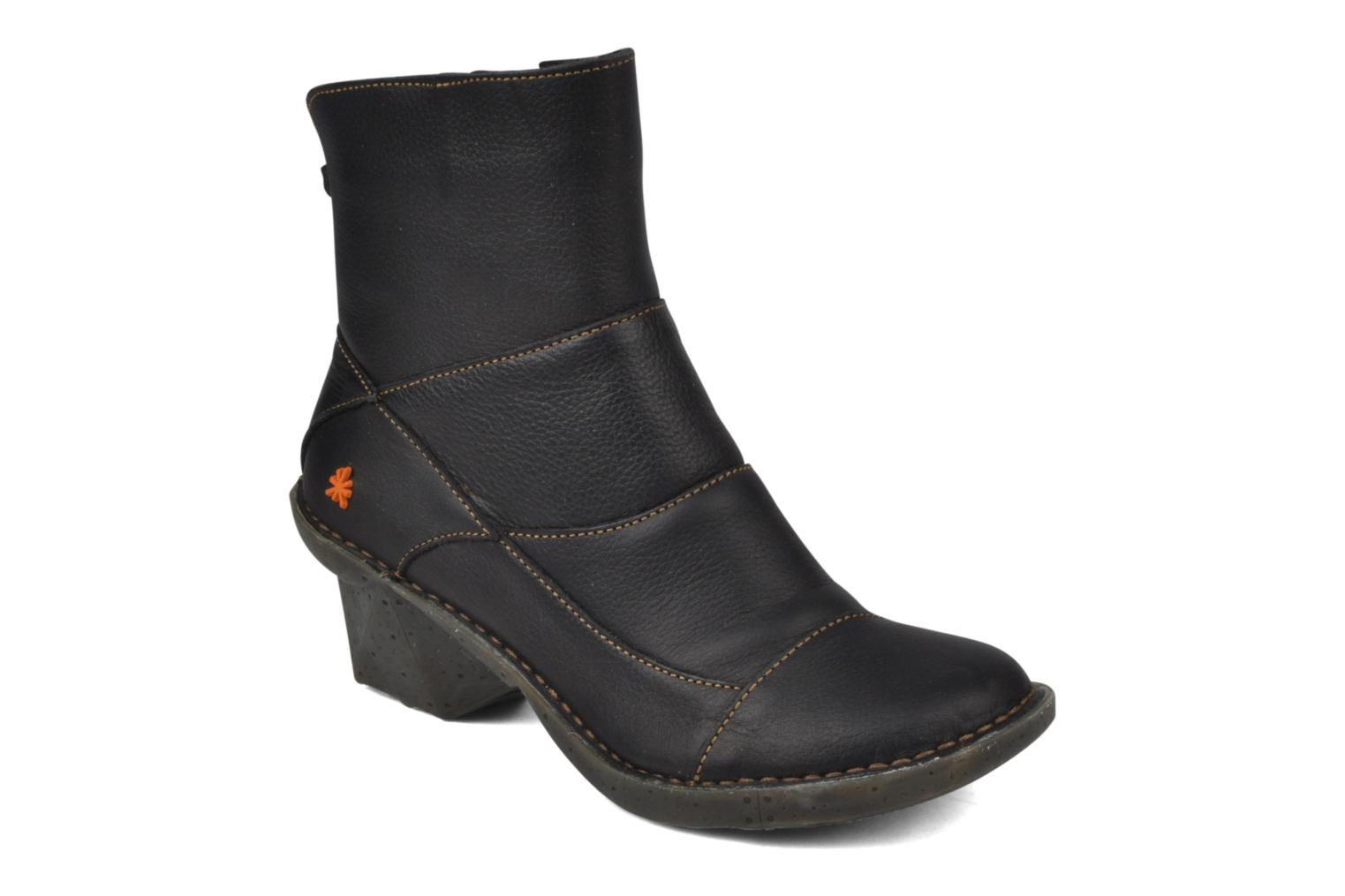 Ankle boots Art Oteiza 621 Black detailed view/ Pair view