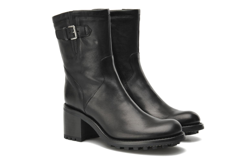 Bottines et boots Free Lance Biker 7 mini gero Noir vue 3/4