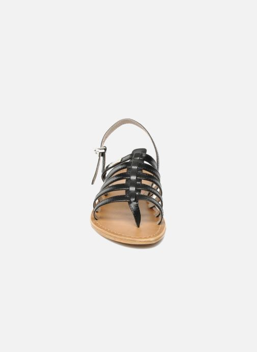 Sandales et nu-pieds Les Tropéziennes par M Belarbi Herisson Noir vue portées chaussures