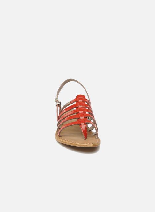 Sandales et nu-pieds Les Tropéziennes par M Belarbi Herisson Rouge vue portées chaussures