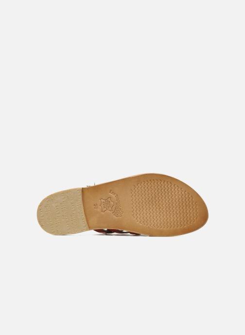 Sandales et nu-pieds Les Tropéziennes par M Belarbi Herisson Rouge vue haut