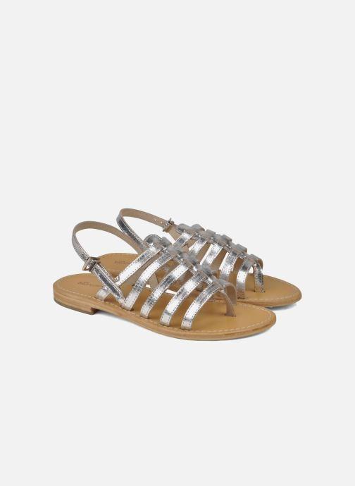 Sandales et nu-pieds Les Tropéziennes par M Belarbi Herisson Argent vue 3/4