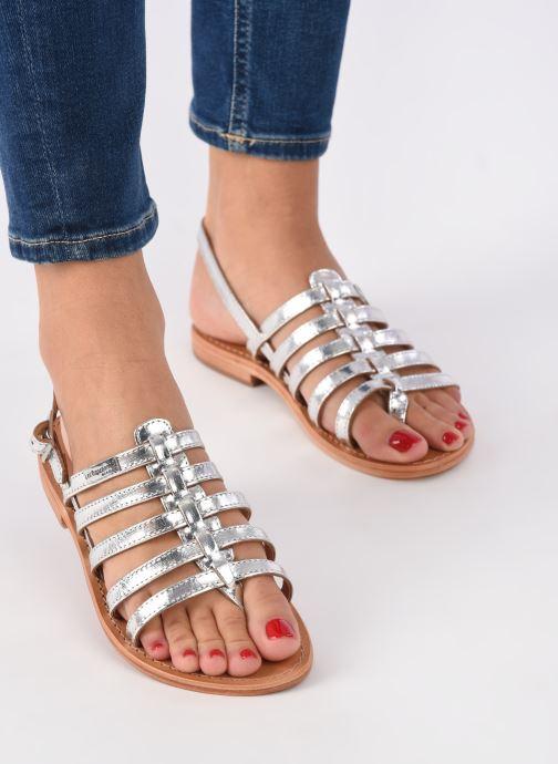 Sandales et nu-pieds Les Tropéziennes par M Belarbi Herisson Argent vue bas / vue portée sac