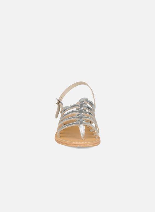 Sandales et nu-pieds Les Tropéziennes par M Belarbi Herisson Argent vue portées chaussures