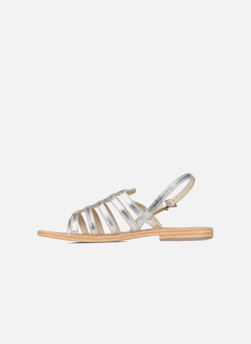 Sandales et nu-pieds Les Tropéziennes par M Belarbi Herisson Argent vue face