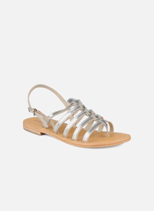 Sandales et nu-pieds Les Tropéziennes par M Belarbi Herisson Argent vue détail/paire