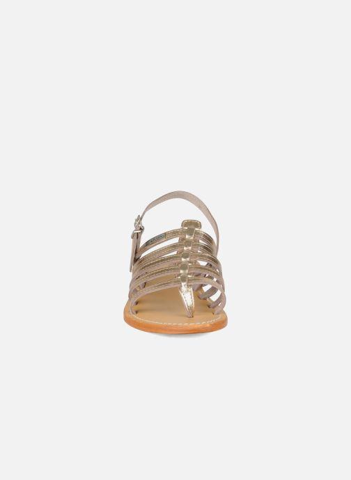 Sandales et nu-pieds Les Tropéziennes par M Belarbi Herisson Or et bronze vue portées chaussures