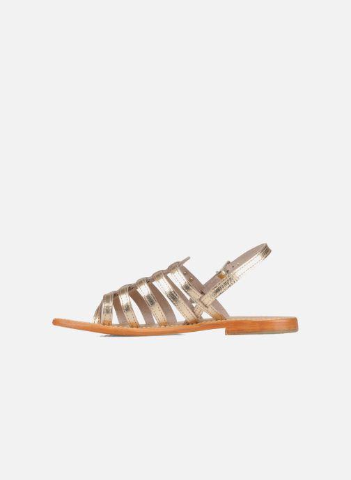 Sandales et nu-pieds Les Tropéziennes par M Belarbi Herisson Or et bronze vue face