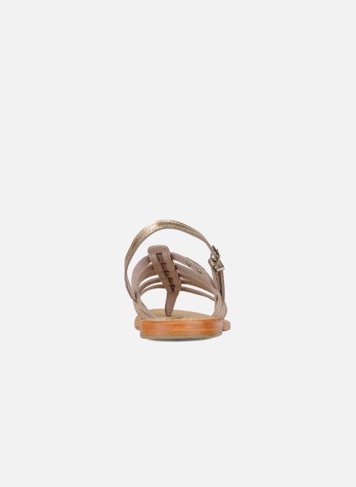Sandalias Les Tropéziennes par M Belarbi Herisson Oro y bronce vista lateral derecha