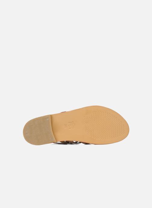 Sandals Les Tropéziennes par M Belarbi Herisson Bronze and Gold view from above