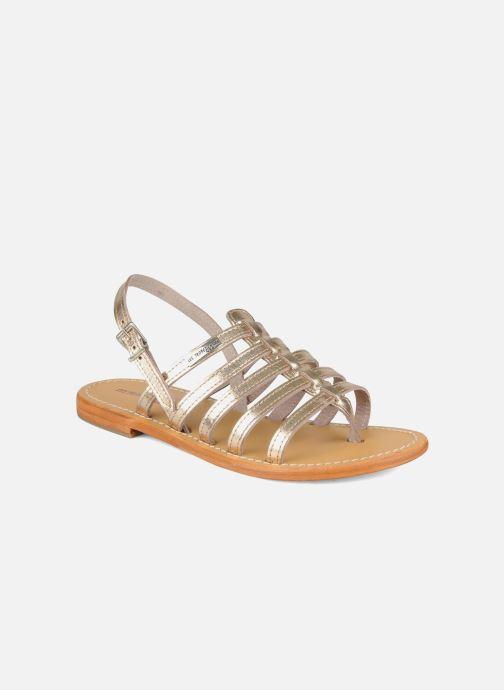 Sandals Les Tropéziennes par M Belarbi Herisson Bronze and Gold detailed view/ Pair view