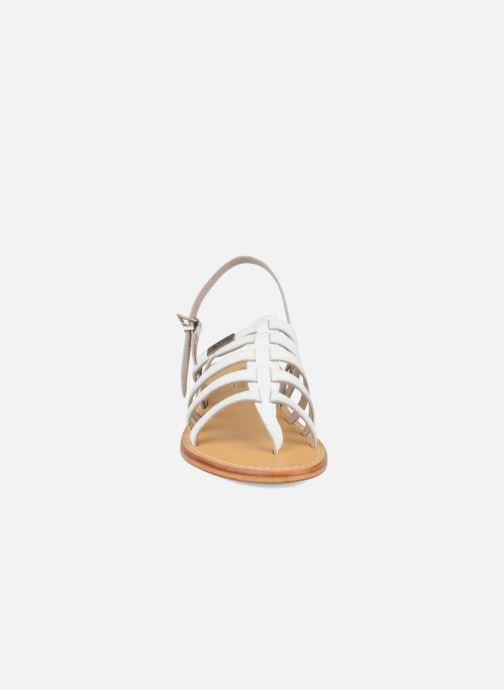 Sandales et nu-pieds Les Tropéziennes par M Belarbi Herisson Blanc vue portées chaussures